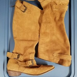 Tan Leather suede boots size 9